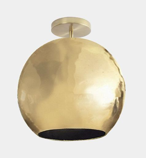 Dounia Home Mishal Semi-Flush Ceiling Fixture - Brass Dounia Home