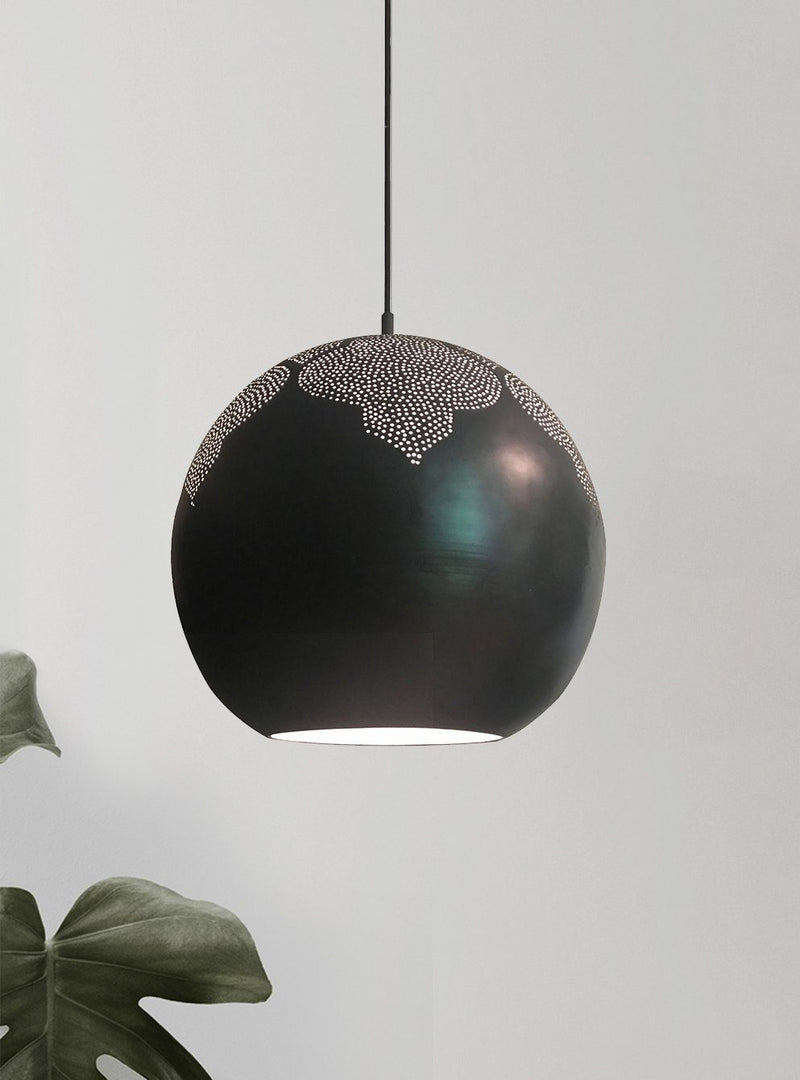 Dounia Home Najma Pendant Light - Gunmetal Pendant light Dounia Home