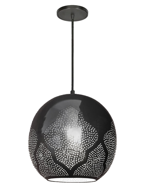 Dounia Home Najma Reversed Pendant Light - Gunmetal Pendant light Dounia Home