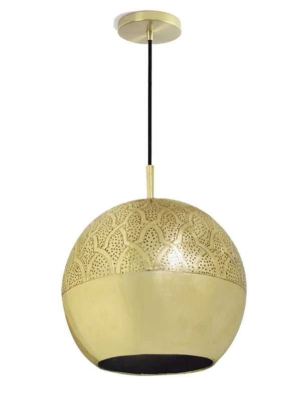 "Dounia Home Nur Pendant Light - Brass Pendant light Dounia Home Brass 4-6 weeks 10"" d x 9"" h"