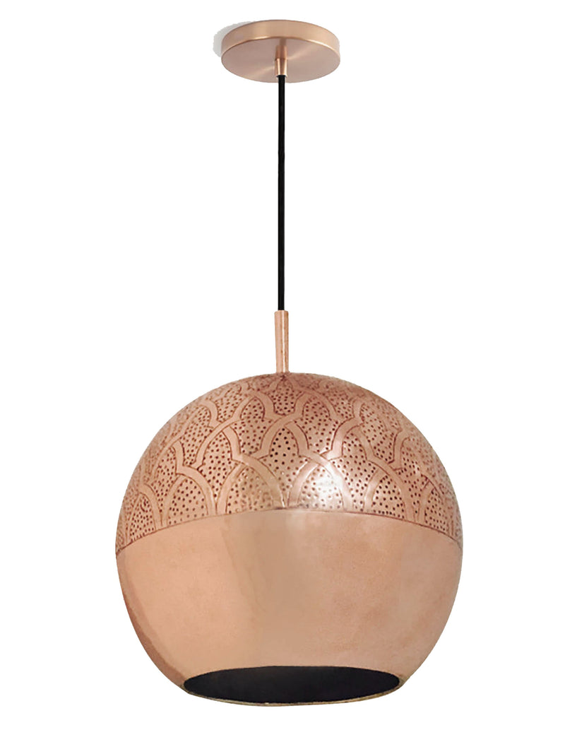 "Dounia Home Nur Pendant Light - Brass Pendant light Dounia Home Copper 4-6 weeks 10"" d x 9"" h"