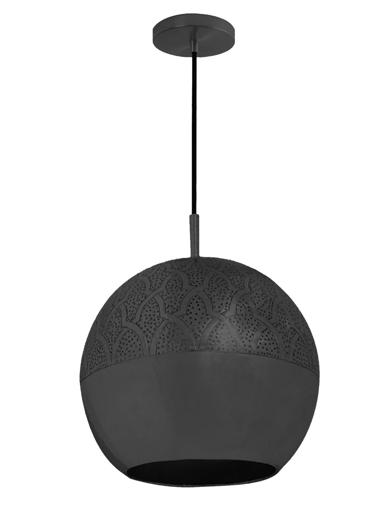 "Dounia Home Nur Pendant Light - Brass Pendant light Dounia Home Gunmetal 4-6 weeks 10"" d x 9"" h"
