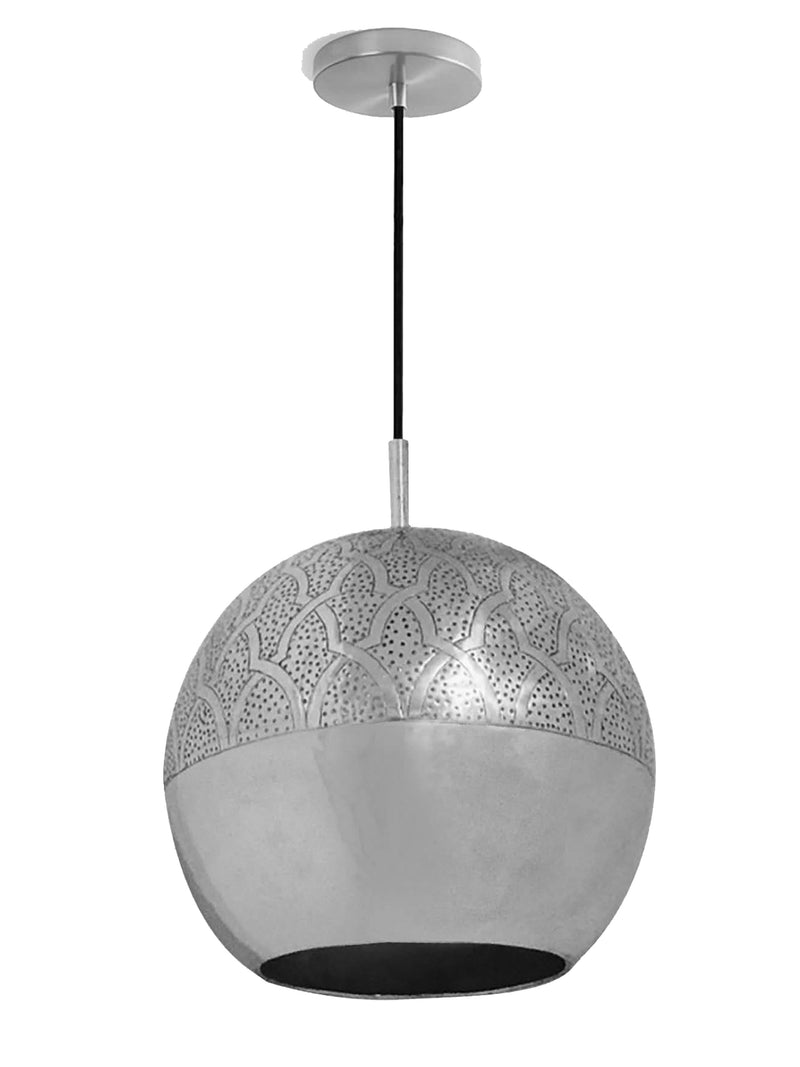 "Dounia Home Nur Pendant Light - Brass Pendant light Dounia Home Silver 4-6 weeks 15"" d x 14"" h"
