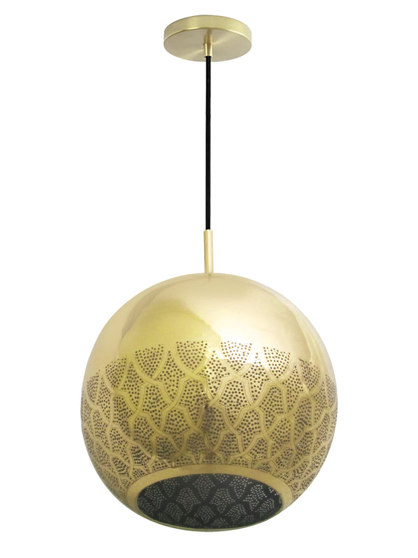 Dounia Home Nur Reversed Pendant Light - Brass Pendant light Dounia Home