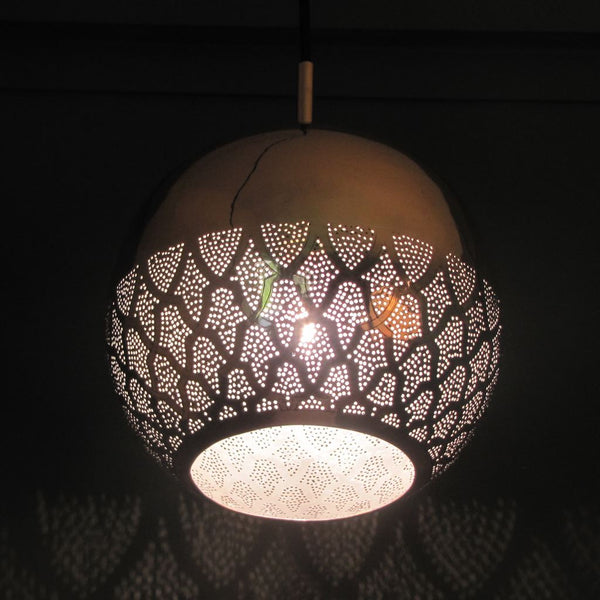 Dounia Home Nur Reversed Pendant Light - Silver Pendant light Dounia Home
