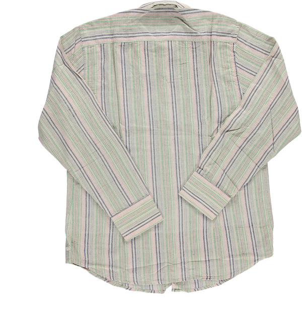 Dushyant Asthana 'The Amir' Long Sleeves Shirt in Multicolor Stripes Hand-loomed Fabric Shirts Dushyant Asthana