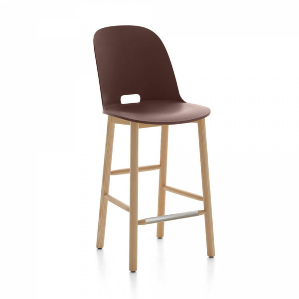 Emeco Alfi Counter Stool High Back Emeco