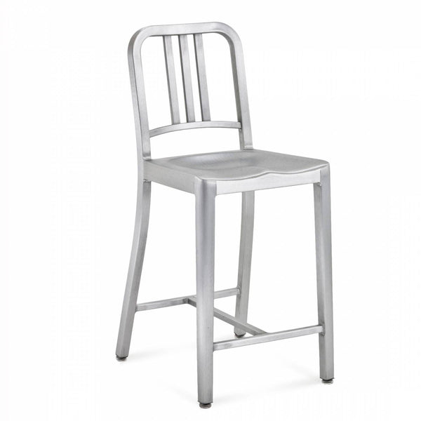 Emeco Navy® Counter Stool Emeco Brushed