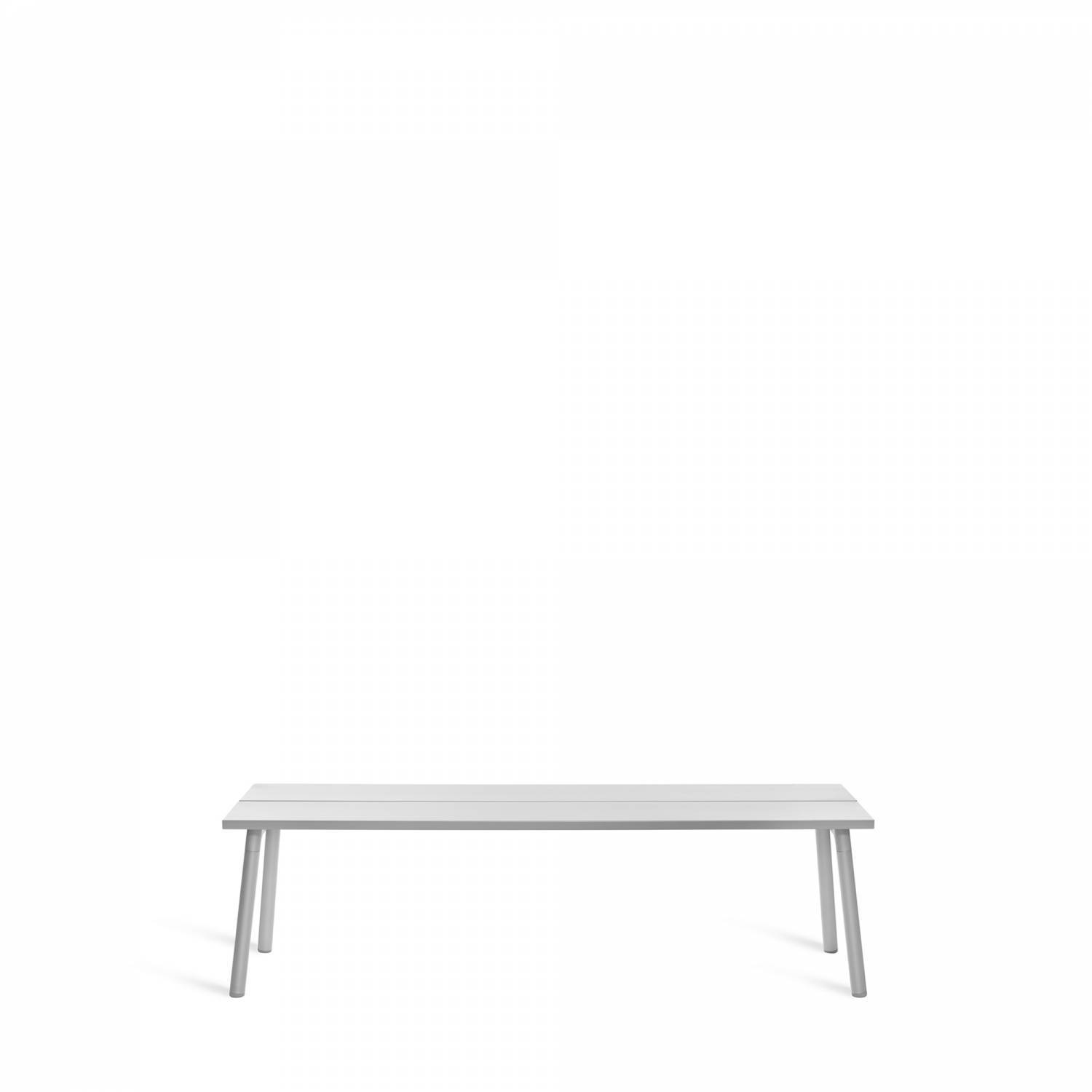 Emeco Run Bench- Clear Aluminum Emeco 3-Seat Bench