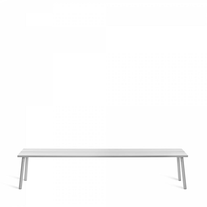 Emeco Run Bench- Clear Aluminum Emeco 4-Seat Bench