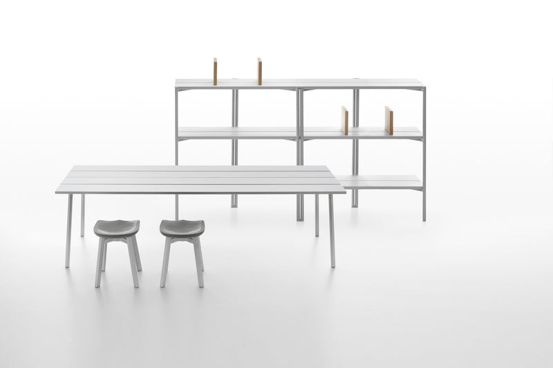 Emeco Run Shelf - Clear Aluminum Furniture Emeco