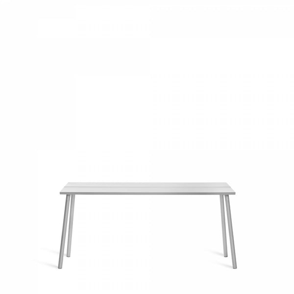 Emeco Run Side Table- Clear Aluminum Emeco 62""