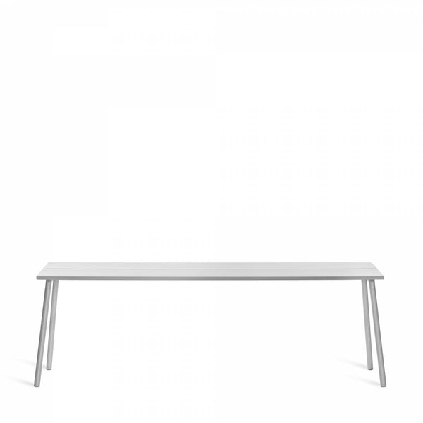Emeco Run Side Table- Clear Aluminum Emeco 86""