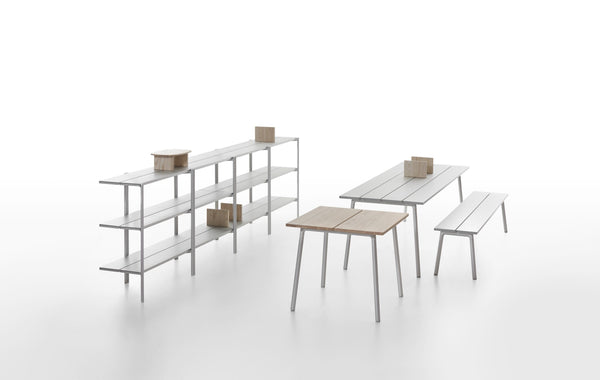 Emeco Run Table- Clear Aluminum Emeco