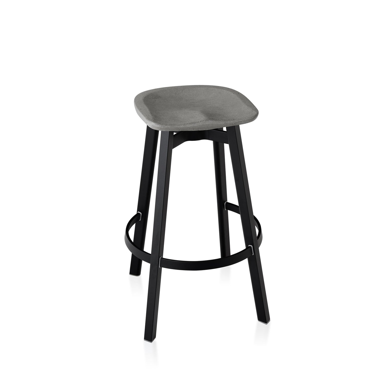 Emeco Su Bar Stool - Eco Concrete Furniture Emeco Eco Concrete Black Anodized