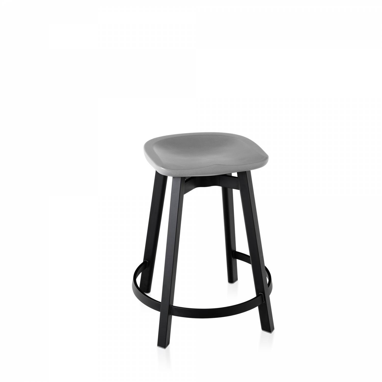 Emeco Su Counter Stool - Eco Concrete Furniture Emeco Eco Concrete Black Anodized