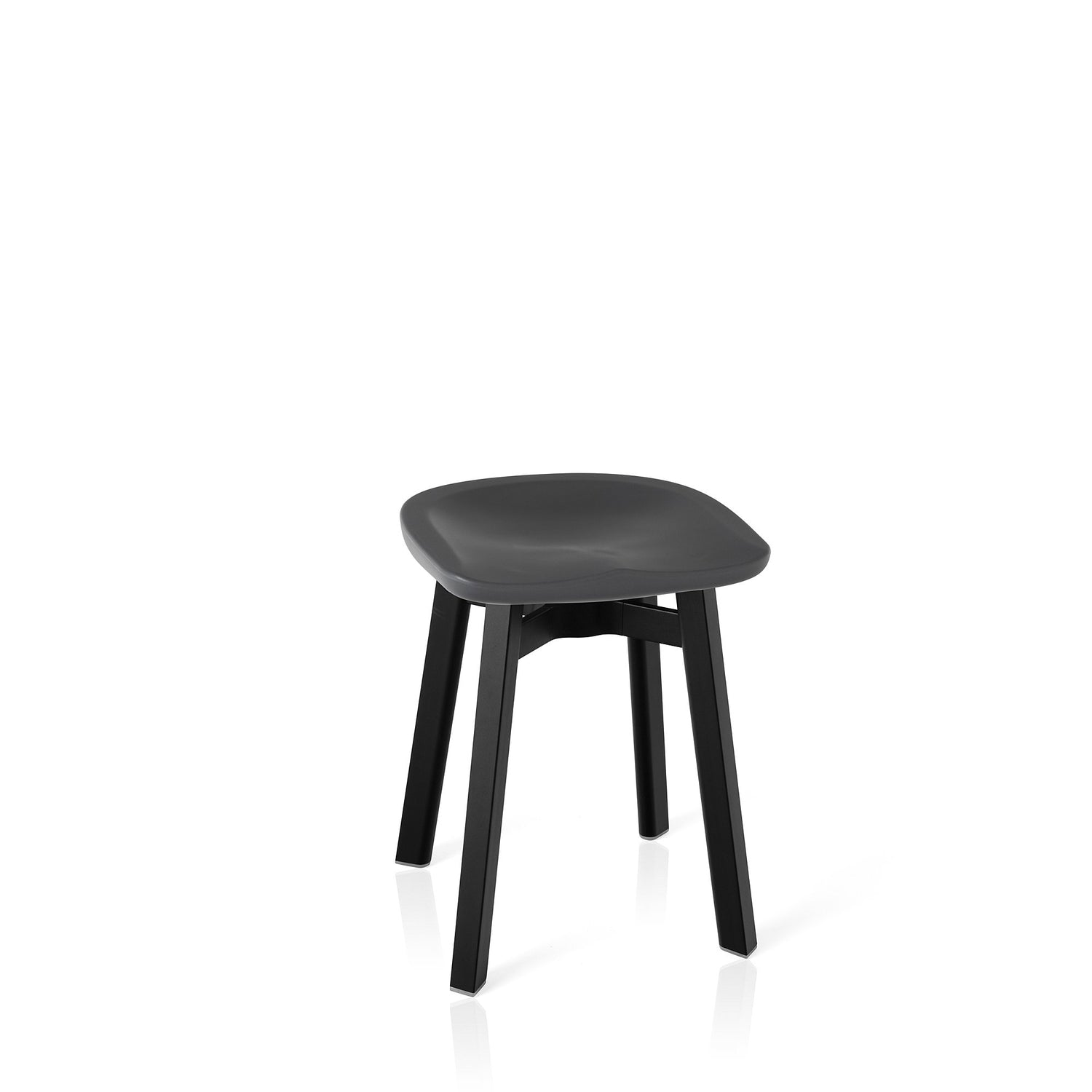 Emeco Su Small Stool - Charcoal Furniture Emeco Charcoal Black Anodized