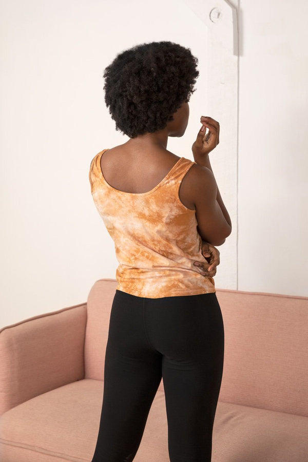 Emily Tie Dye Organic Cotton Tank Top - Amber Top North of West