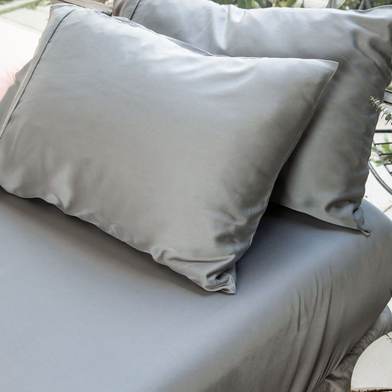 Ettitude Bamboo Charcoal Fitted Sheet Bedding Ettitude
