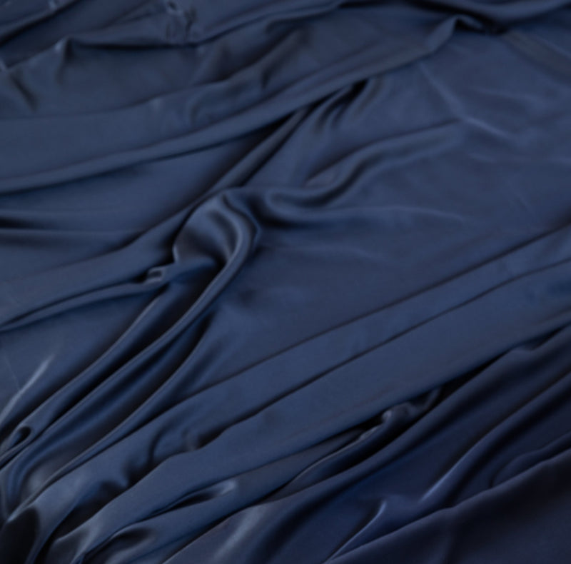Ettitude Bamboo Lyocell Fitted Sheet Bedding Ettitude Blue Nights Twin