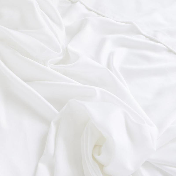 Ettitude Bamboo Lyocell Fitted Sheet - Feather White Bedding and Bath Ettitude Twin