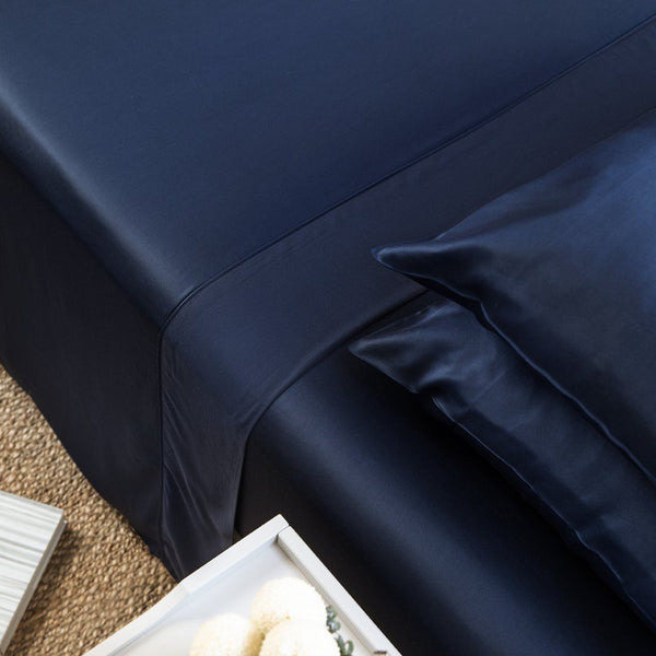 Ettitude Bamboo Lyocell Flat Sheet - Blue Nights Bedding and Bath Ettitude