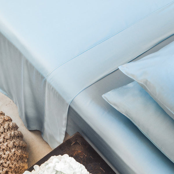 Ettitude Bamboo Lyocell Flat Sheet - Starlight Blue Bedding and Bath Ettitude