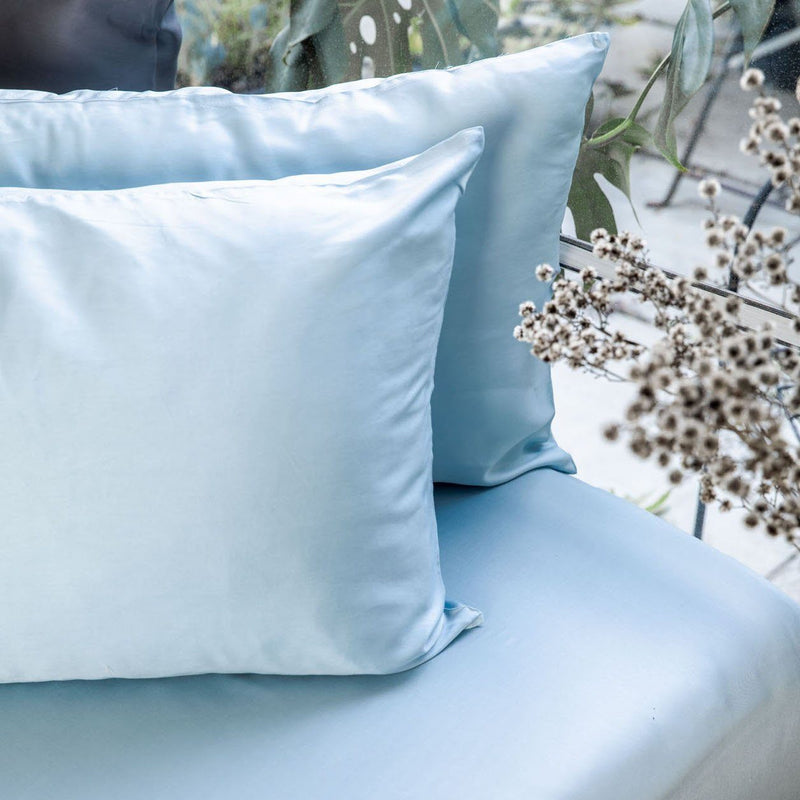 Ettitude Bamboo Lyocell Pillowcase Set - Starlight Blue Bedding and Bath Ettitude Standard