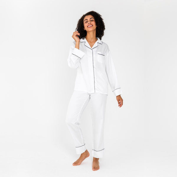 Ettitude Bamboo Lyocell PJ Pants - Feather White Clothing Ettitude Feather White S