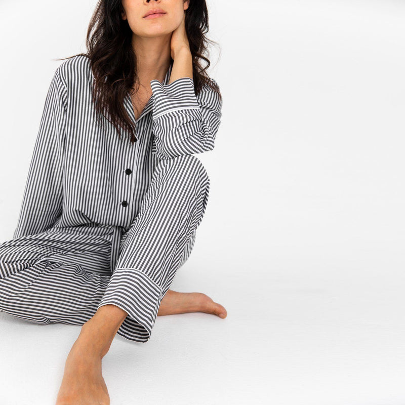 Ettitude Bamboo Lyocell PJ Pants - Grey Stripes Clothing Ettitude