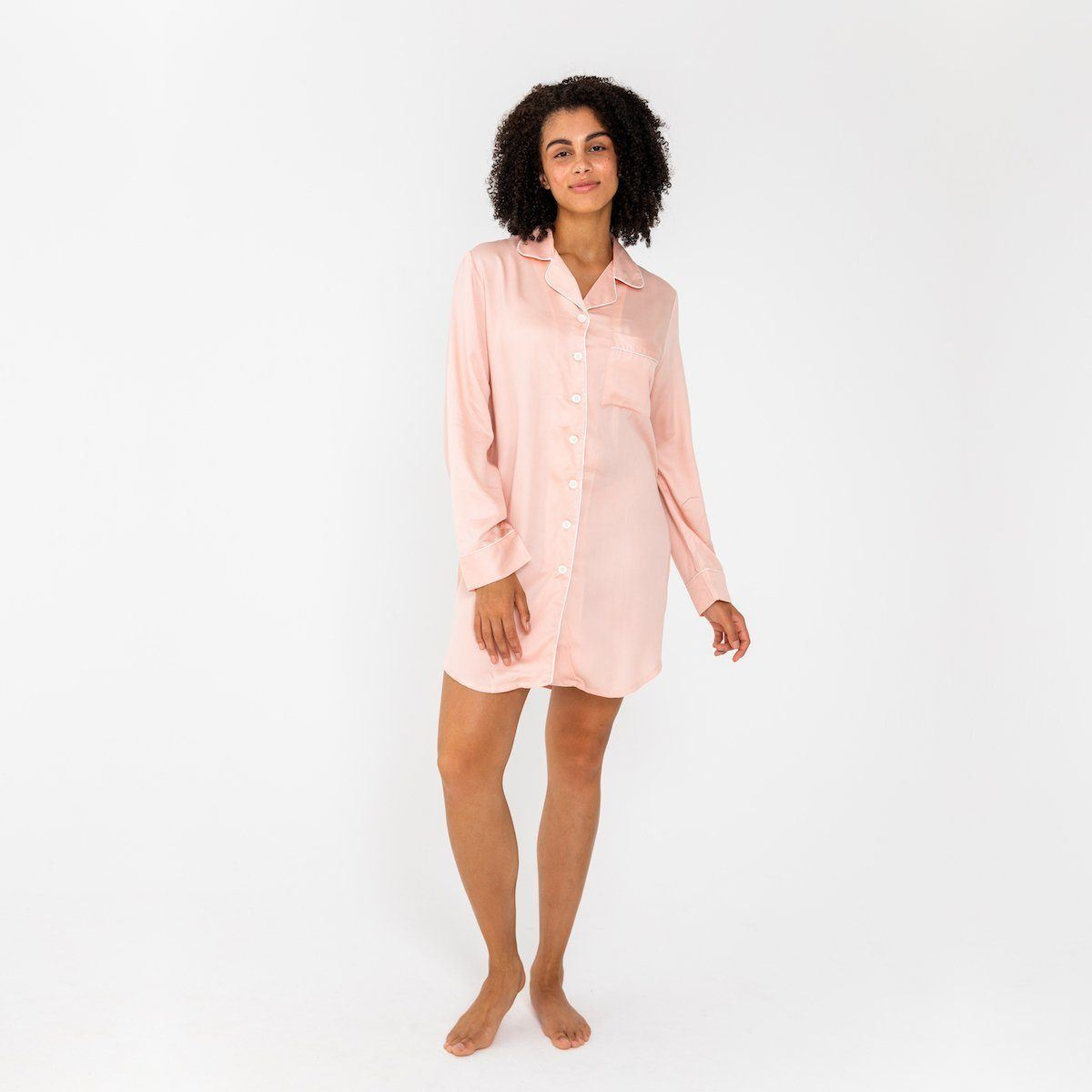 Ettitude Bamboo Lyocell Sleep Shirt - Cloud Pink Clothing Ettitude