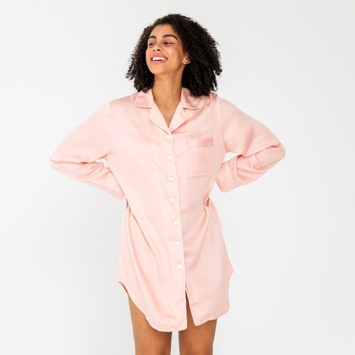 Ettitude Bamboo Lyocell Sleep Shirt - Cloud Pink Clothing Ettitude Cloud Pink S