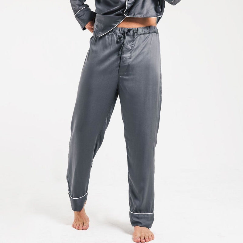 Ettitude Men's Bamboo Lyocell PJ Pants - Grey Clothing Ettitude