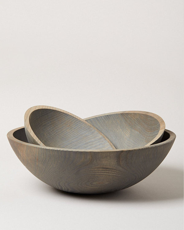 Farmhouse Pottery Crafted Wooden Bowls - Grey Farmhouse Pottery
