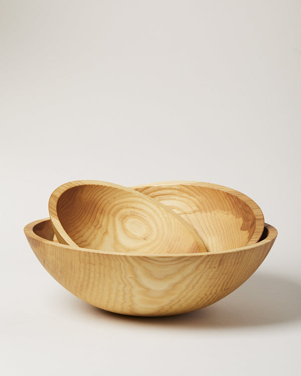 Farmhouse Pottery Crafted Wooden Bowls - Natural Farmhouse Pottery