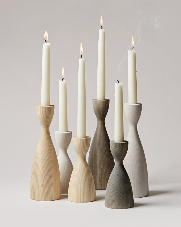 Farmhouse Pottery Pantry Candlestick - Grey Farmhouse Pottery