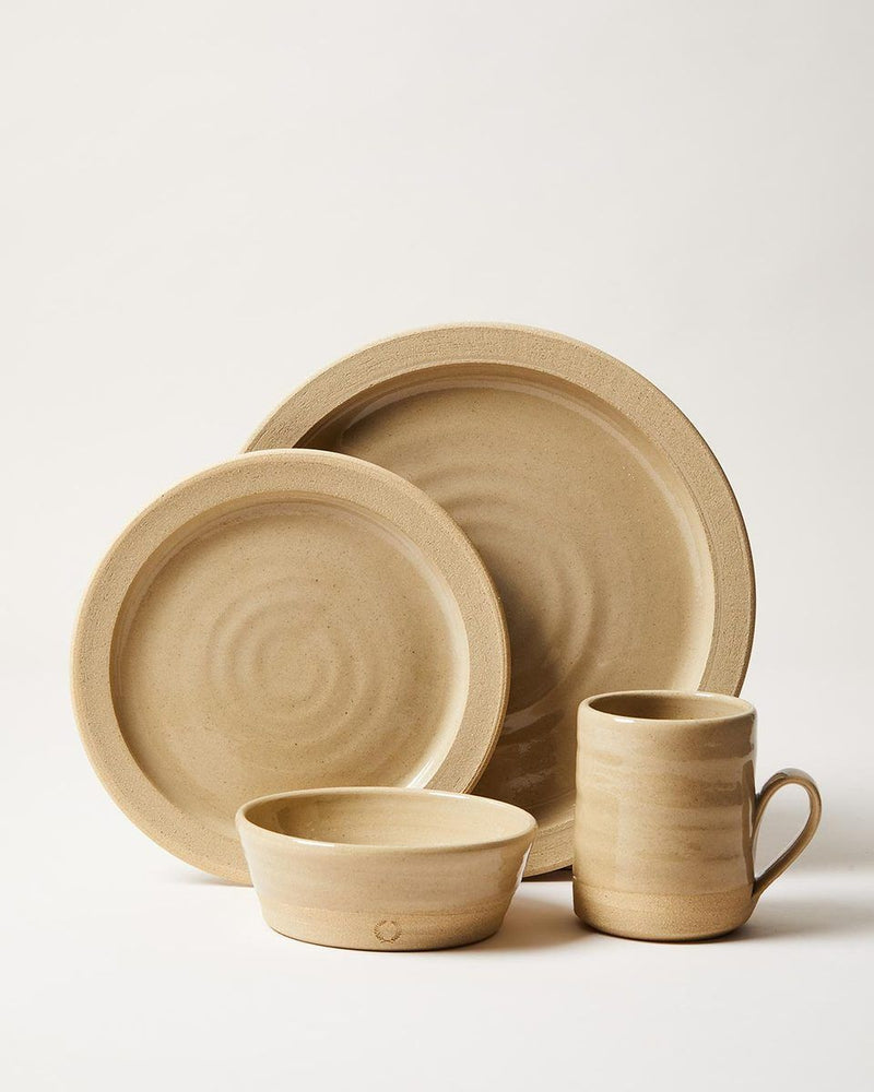 Farmhouse Pottery Pastoral Silo Place Setting - 4 Piece Set Kitchen and Dining Farmhouse Pottery
