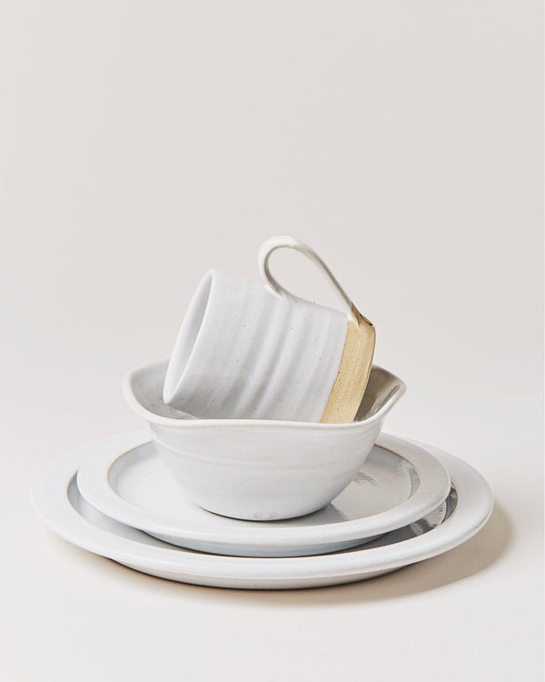 Farmhouse Pottery White Silo Place Setting - 4 piece Pottery Farmhouse Pottery