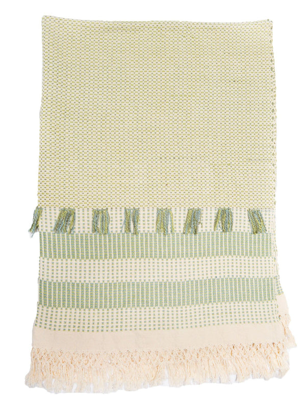Feijoa Organic Cotton Throw Blanket Zuahaza