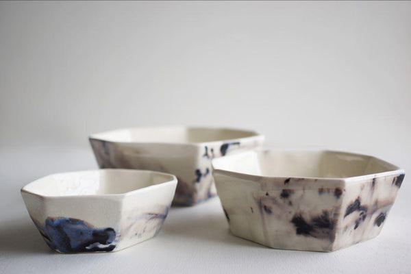 Formation Porcelain Bowl - Azul Lauren HB Studio