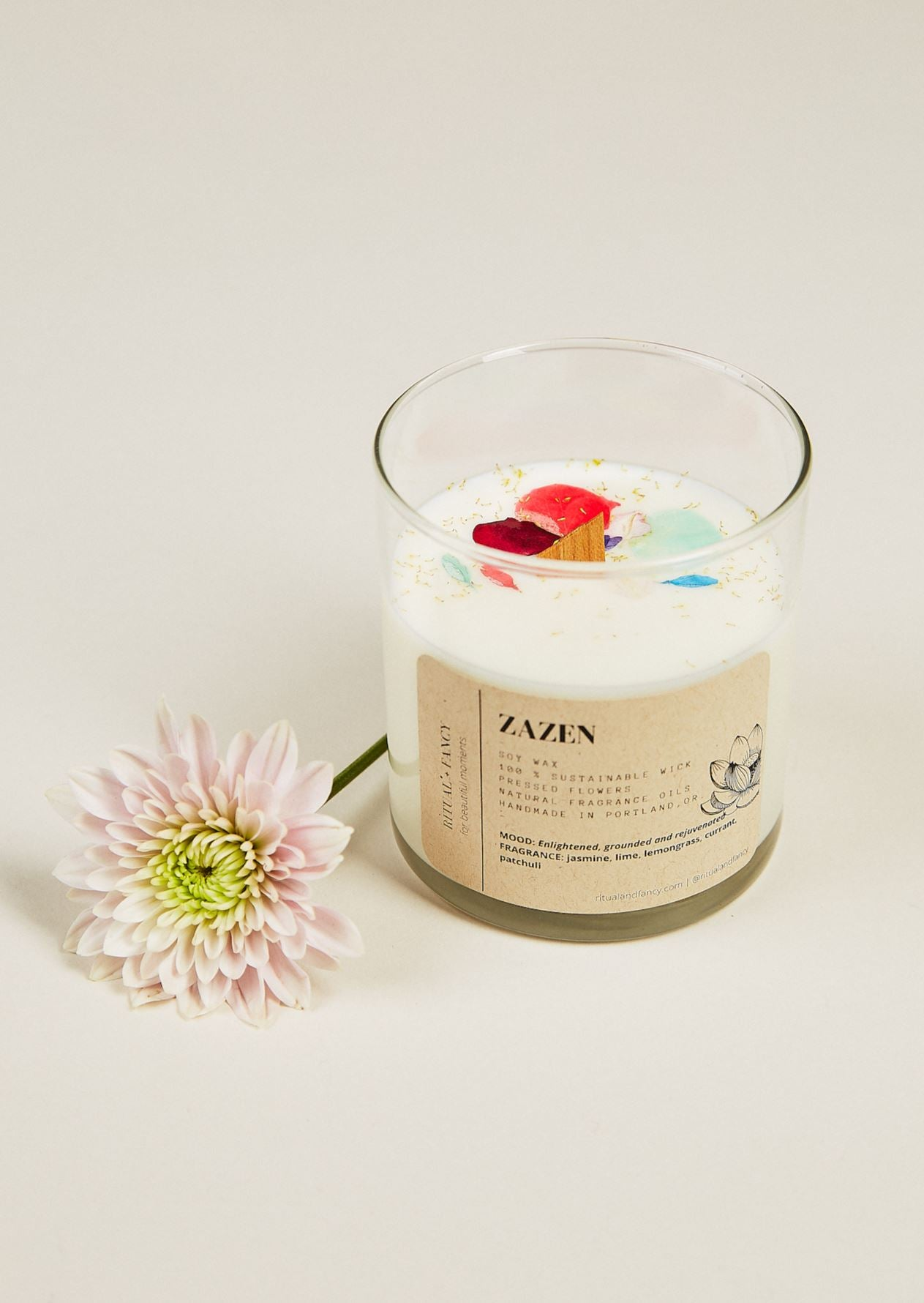 Glass Tumbler Candle - 12 oz Ritual and Fancy