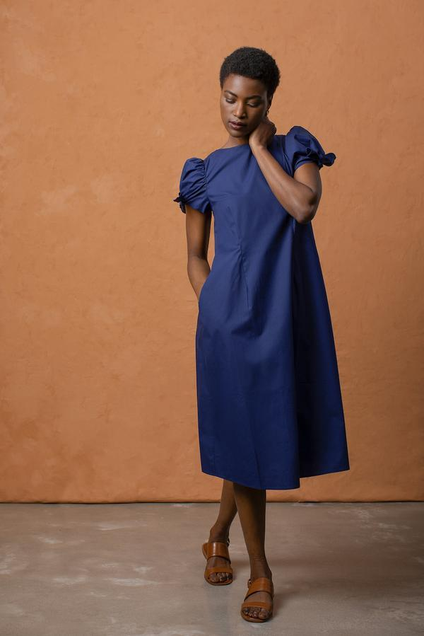 Grammar NYC The Quotation Dress - Sea Blue Dresses Grammar NYC