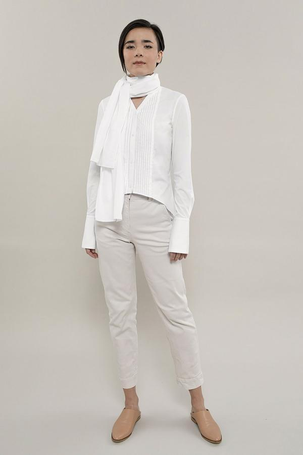 Grammar NYC The Schwa Tuxedo Shirt - White Grammar NYC