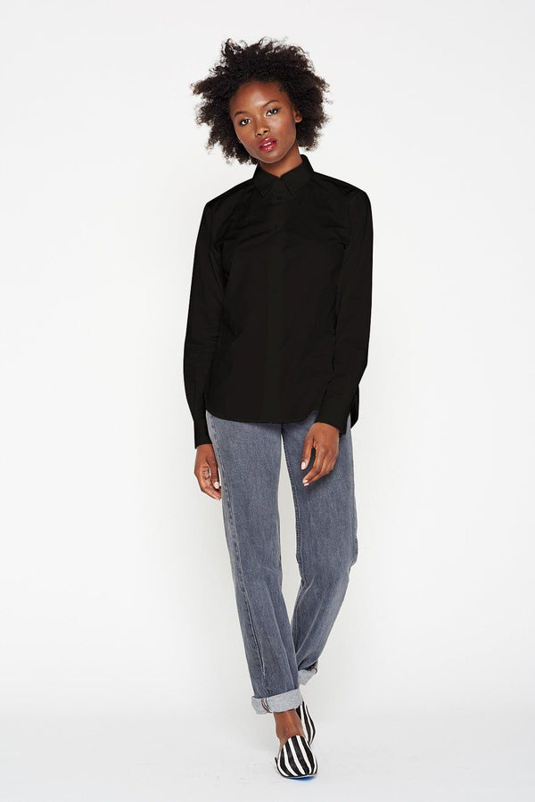 Grammar NYC The Verb Shirt - Black Women's Clothing Grammar NYC
