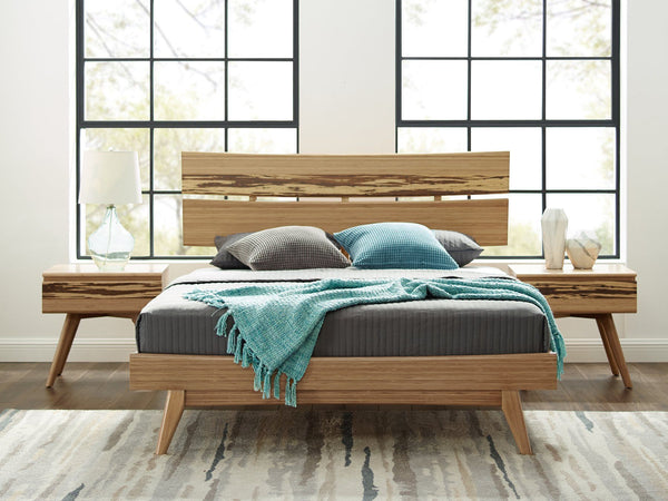 Greenington Azara Queen Platform Bed, Caramelized Greenington