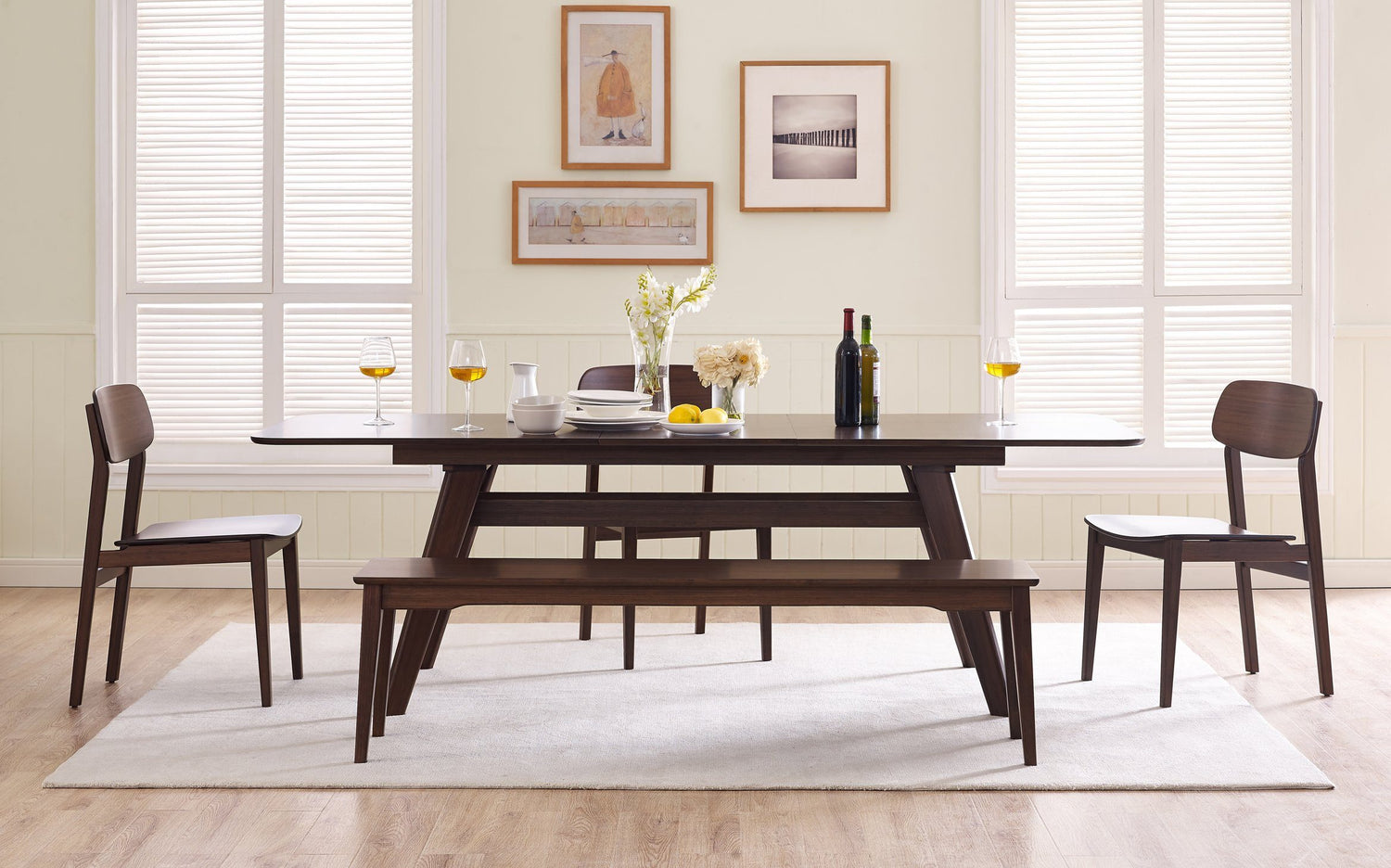 Picture of: Greenington Currant Extendable Dining Table Black Walnut Made Trade