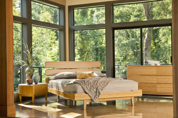 Greenington Currant California King Platform Bed, Caramelized Greenington