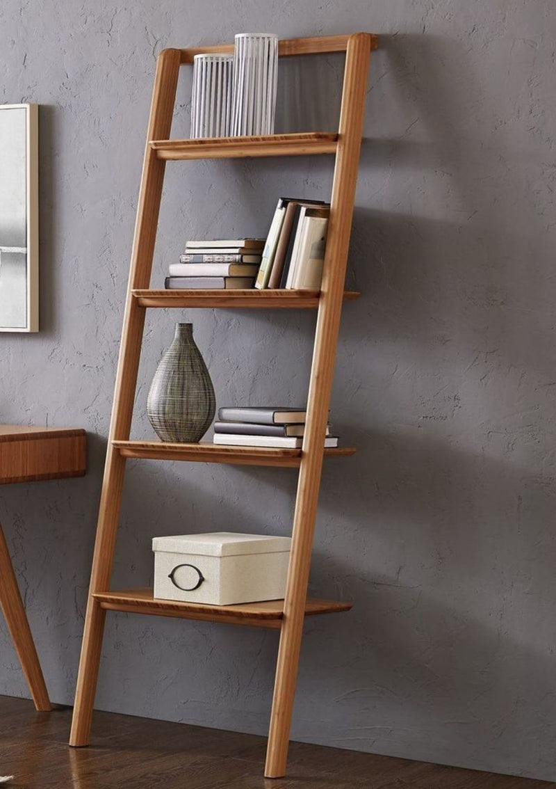 Greenington Currant Leaning Bookshelf, Caramelized Greenington