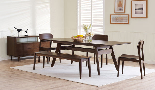 Greenington Currant Long Bench, Black Walnut Greenington