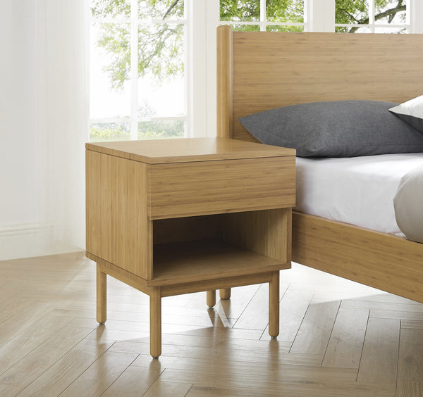 Greenington Ria One Drawer Nightstand - Caramelized Greenington